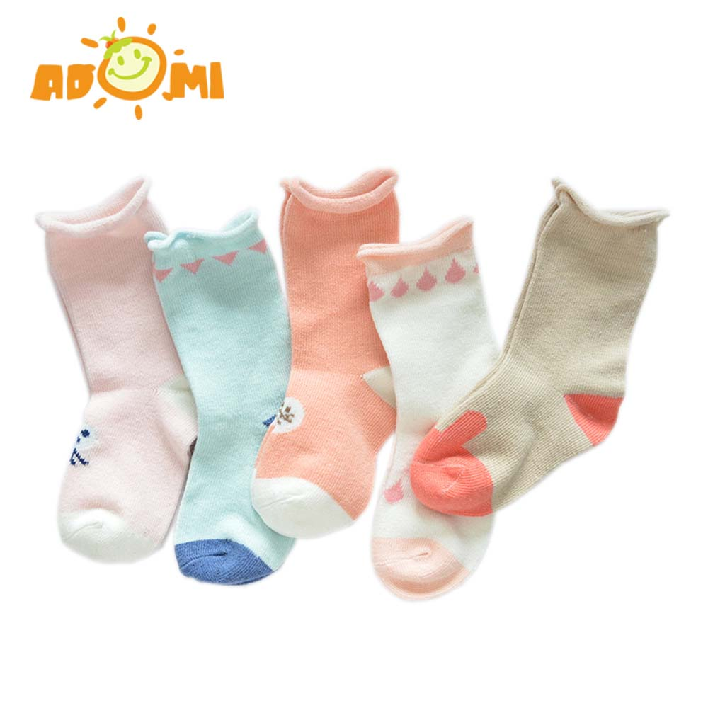 ADOMI Spring&Autumn Girls Socks Cartoon Cute Children Socks Cotton Baby Kids Socks 2 Kin ...