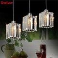 Современные светодиодные подвесные светильники  кристаллический роскошный подвесной светильник для кухни  фойе  подвесной светильник  бле...