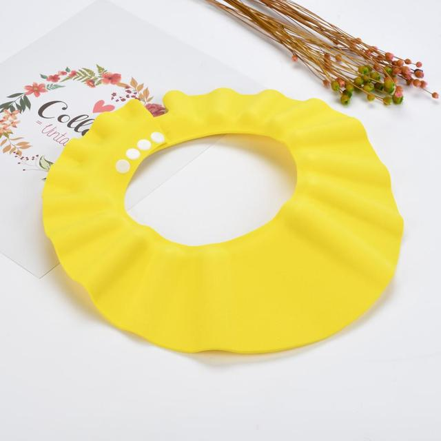 1 PCS 26*28.5 cm Safe Waterproof Protect Eyes Hair Shower Bathing Tools For Kids Adjustable EVA shampoo cap 2