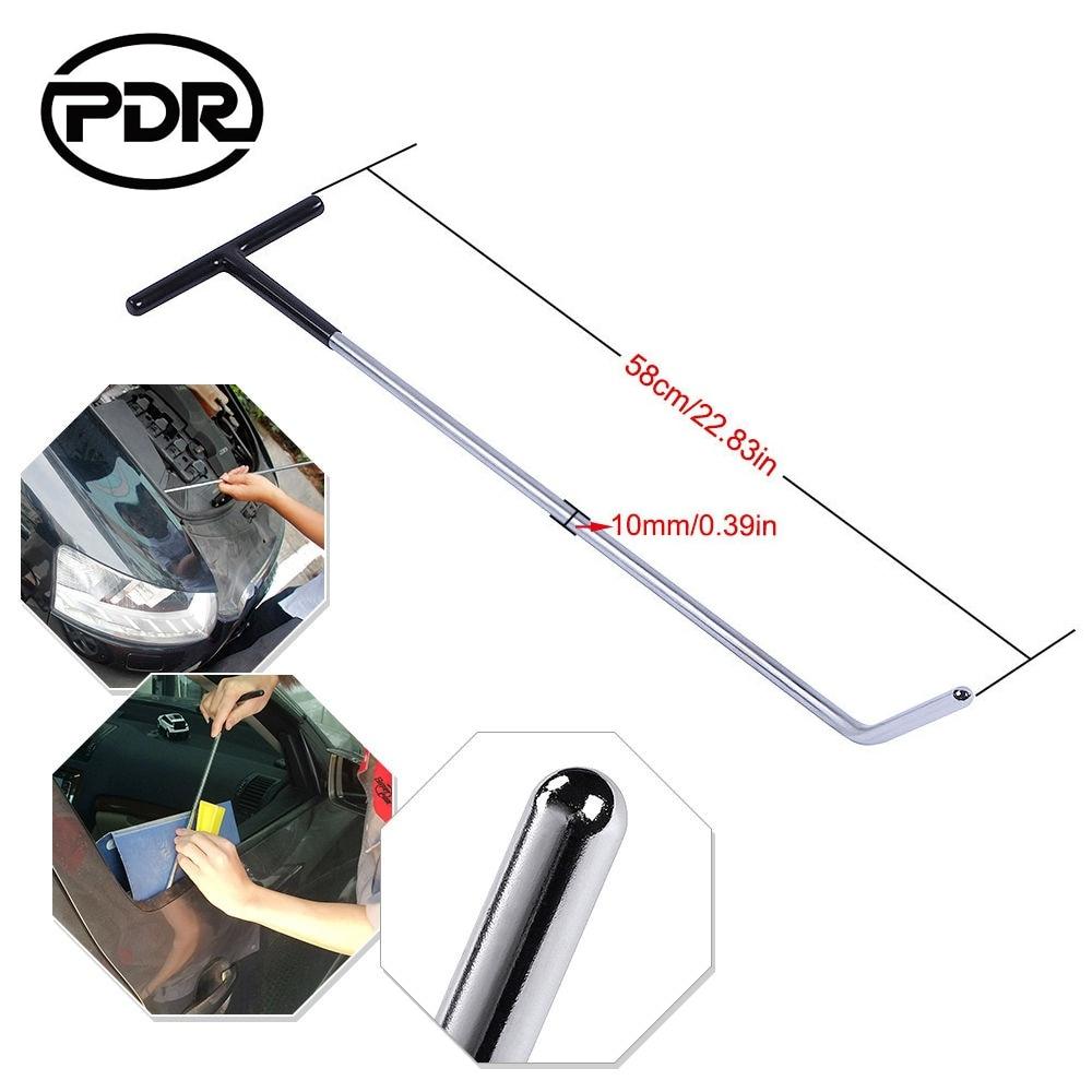 1 Pcs PDR Hook Tools Push Rods Dent Removal Tool Door Dings Hail Repair Kit Car Body Repair Kit 58cm*10mm PDR Rods