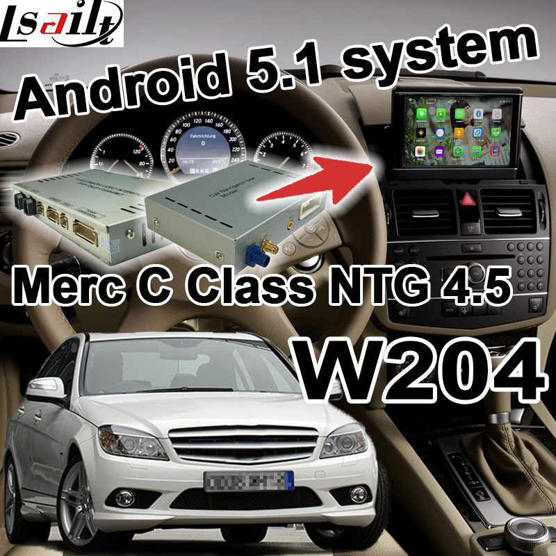Android GPS navigation box video interface for Mercedes benz C Class W204 NTG 4 5 COMMAND