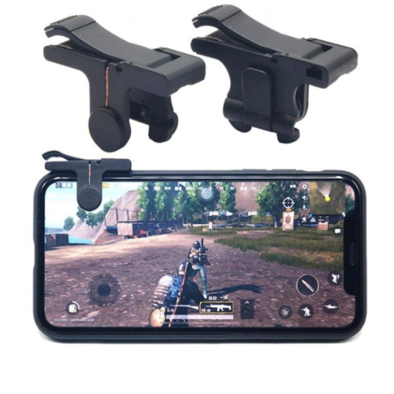 2pcs L1 R1 Gaming Trigger Smart Phone Game Shooter Controller Fire Button Handle For PUBG / Survival Rules / Knives On