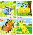 Free Shipping 5pcs/lot Wooden Animal 16 Loaded Jigsaw Puzzles Children's Learning& Educational Toys Puzzle The Toy To Children