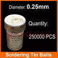 250K a Bottle Tin Soldering Balls For IC Chip BGA Reballing Rework Station PCB Repair