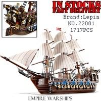 LEPIN 22001 1717Pcs Pirates The Flagship Huge Ship Model Building Kit Blocks Bricks DIY Toys For
