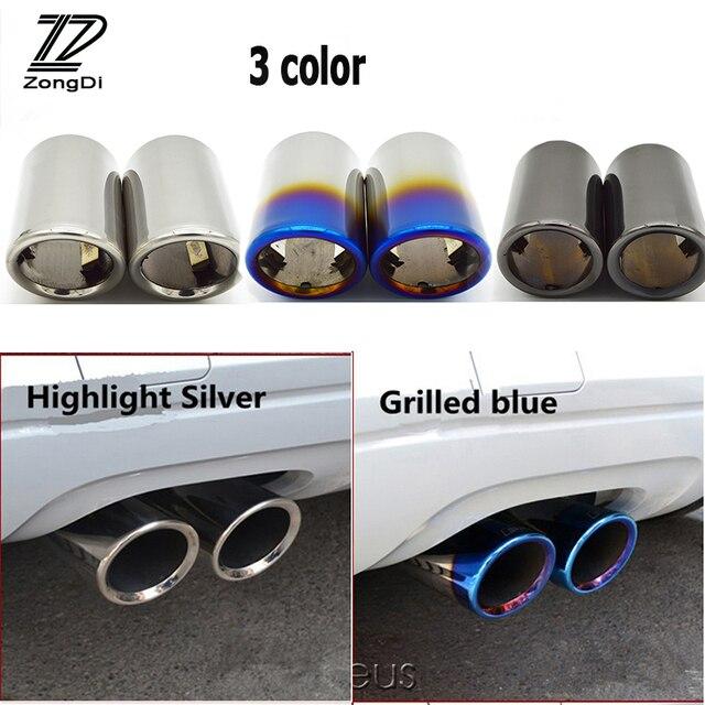ZD 2 قطعة اكسسوارات السيارات ل Volkswagen بولو جولف 6 جيتا MK6 1.4T VW Golf 7 MK7 بورا السيارات السيارات العادم تلميح الخمار الأنابيب يغطي