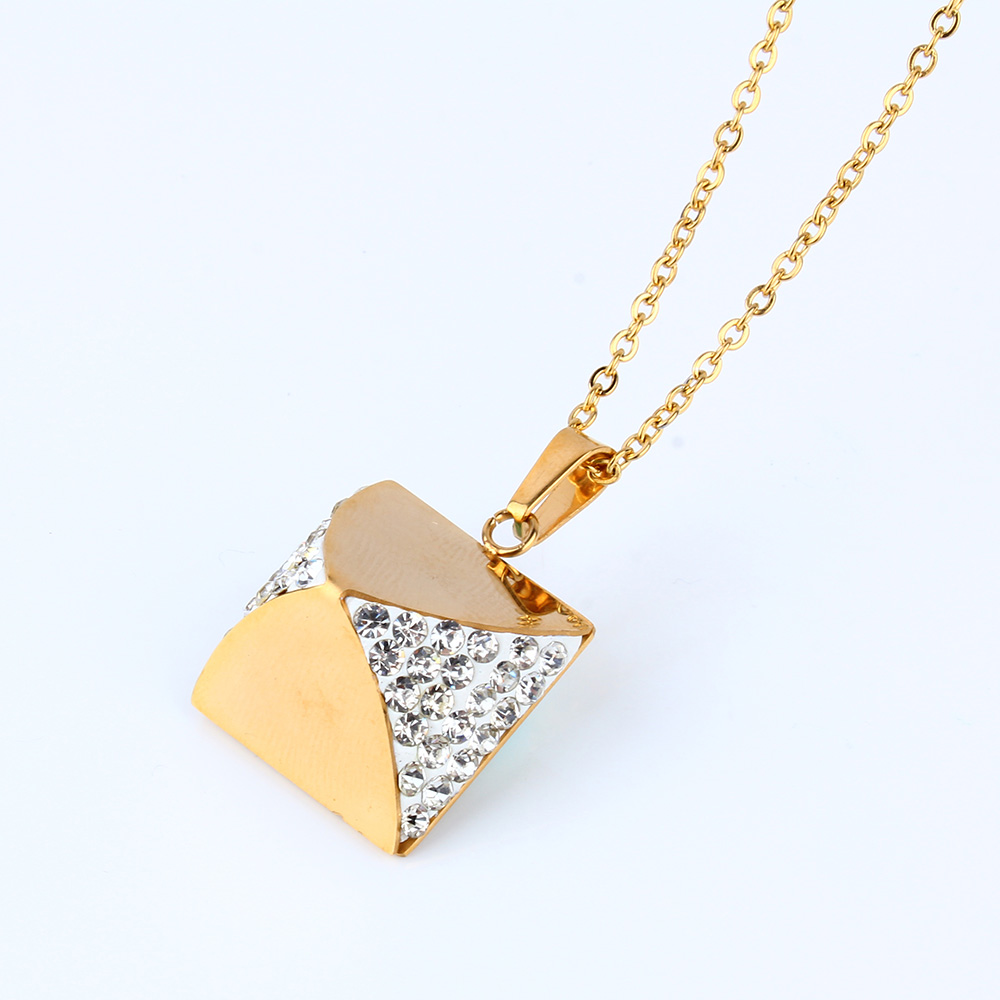 XUANHUA Stainless Steel Fashion Women Jewelry Accessories Clay Stone Necklaces & Pendants Choker Statement Necklace Jewerly