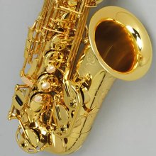 Golden Selmer Alto Sax E flat Electrophoretic gold Saxfone Musical Instruments Free shipping