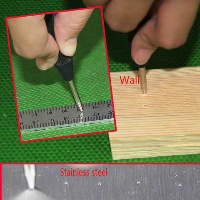 5 Inch Automatic Center Pin Punch Spring Loaded Marking Starting Holes Tool Wood Press Dent Marker Woodwork Tool Drill Bit 2