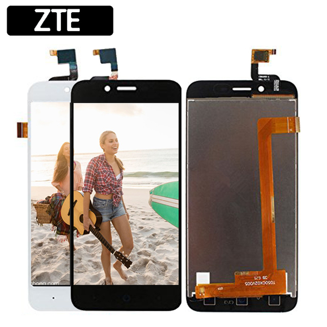 Black/White 5.0 inch For ZTE Blade L4 A460 Blade D T610 LCD Display + Touch Screen Digitizer Assembly Replacement Free shipping
