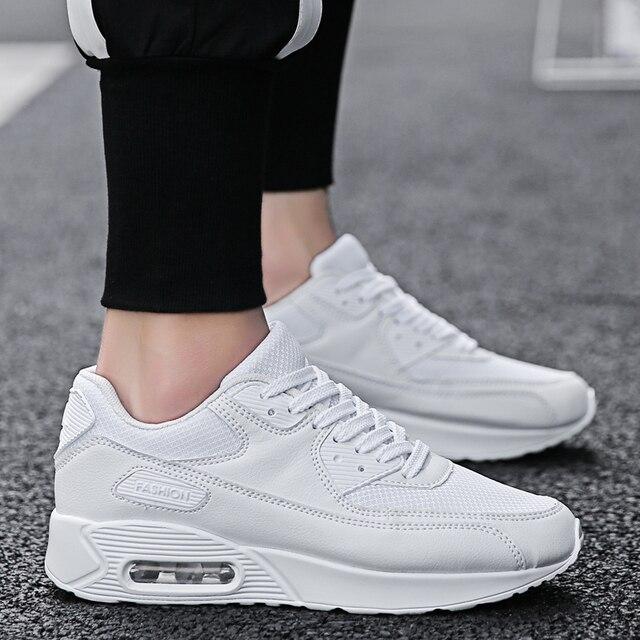 Zapatos deportivos de hombre True Trend Ultra Air Cushion 2018 de alta calidad con cordones marca adultos zapatillas negro rojo PU parte superior de tenis al aire libre