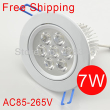 white,ceiling 7W lamps 100pcs/lot