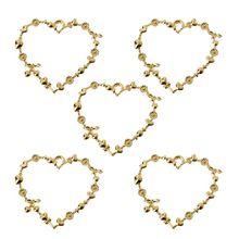5Pcs Sweet Heart Blank Resin Frames Pendant Open Bezel Setting Jewelry Making hot sale rhinestone bezel setting heart shape ring