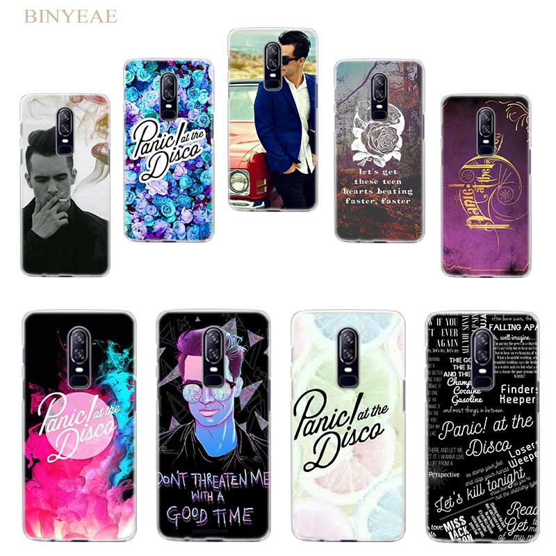 BiNFUL Panic At The Disco Hard Clear Case Cover Shell for Oneplus 5t Oneplus 6