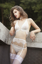 Прозрачный супер комплект кружевного белья для девушек