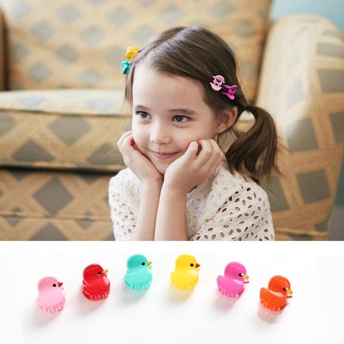 unid flor garra del pelo pinza pinza de pelo del color del caramelo mini horquillas nio nia adornos para el cabello lindo n