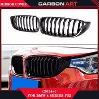 Для BMW F36 F80 M3 F82 F83 M4 2 двери купе 420i 428i 435i 428d 420d 425d 430d 435d углеродного волокна Глянцевая передняя решетка