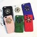 Роскошные Италия Мода марка Радуга Кружева Кристалл Случае Сотовый Телефон для Apple iPhone 6 6 s 6 плюс 7 Плюс 7 Girlish Горный Хрусталь случае