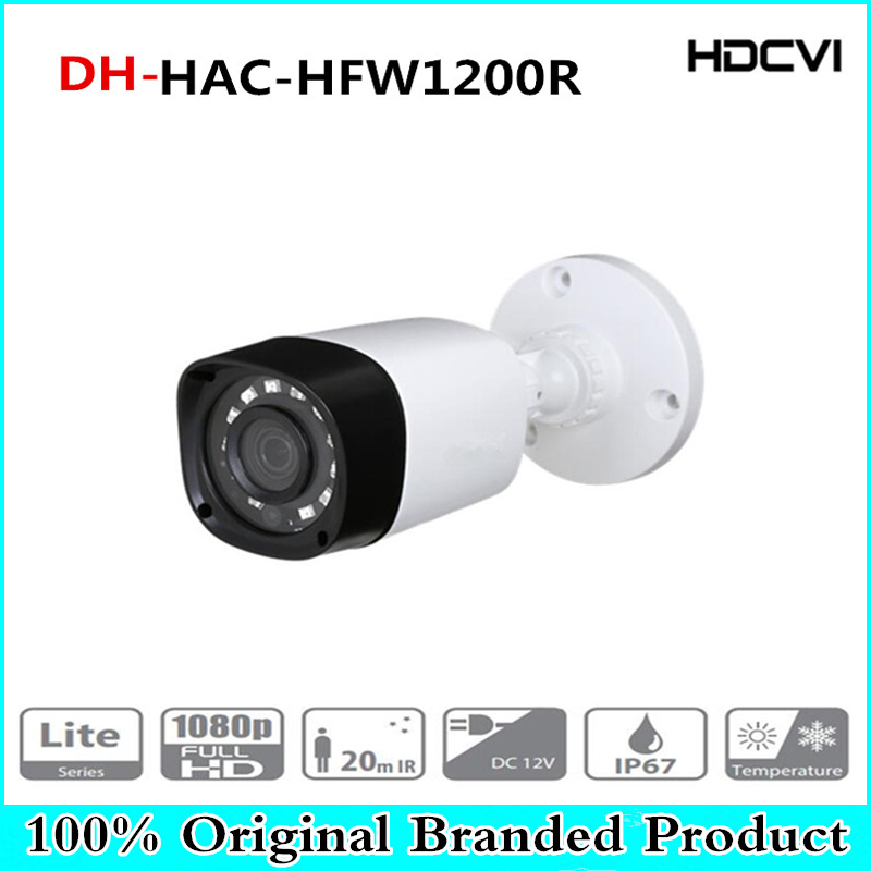 DH Wholesale HAC-HFW1200R 1MP HDCVI IR Bullet Camera Smart IP67 1080P 2MP HD CCTV Lite Series DH-HAC-HFW1200R With Dahua logo dahua outdoor indoor hdcvi camera dh hac hdw1100e 1mp hd network ir security cctv dome camera ir distance 40m hac hdw1100e ip67