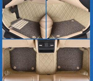 Myfmat personalizado Pie de cuero alfombrillas de coche para Kia Optima Carens Sportage Cadenza BORREGO Cachet envío gratis con clase transpirable