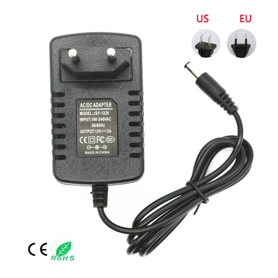 US/EU Plug Power Supply Adapter AC 110-240V To DC 12V 2A/3A 24W/36W For LED Strips  Light Converter Adapter Switching Charger