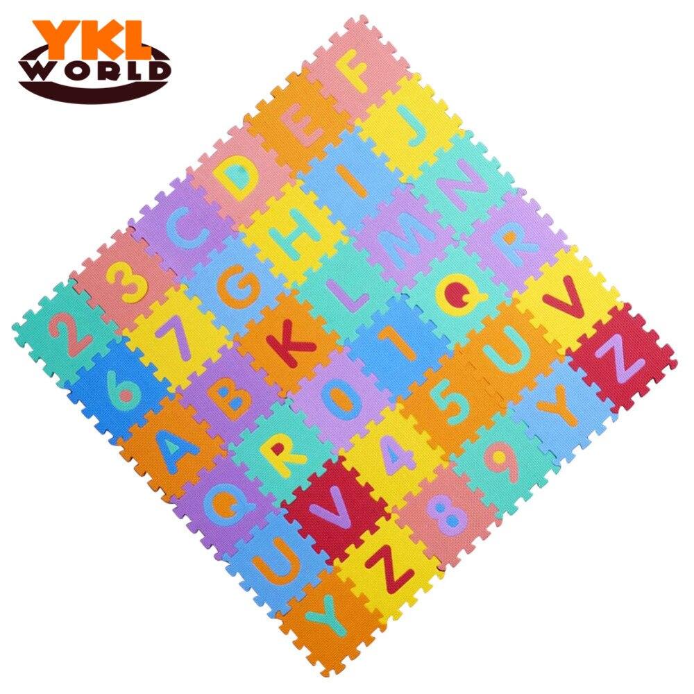 36 pièces/ensemble tapis de jeu bébé EVA tapis de Puzzle en mousse enfants Alphabet et chiffres tapis d'apprentissage de haute qualité et jouets sûrs pour les enfants (S5