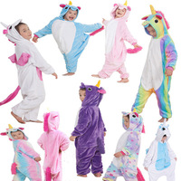 Free Shipping Child Boys Girls Onesies Pajamas Autumn Winter Children Flannel Animal Pajamas Jumpsuits Cosplay Onesie