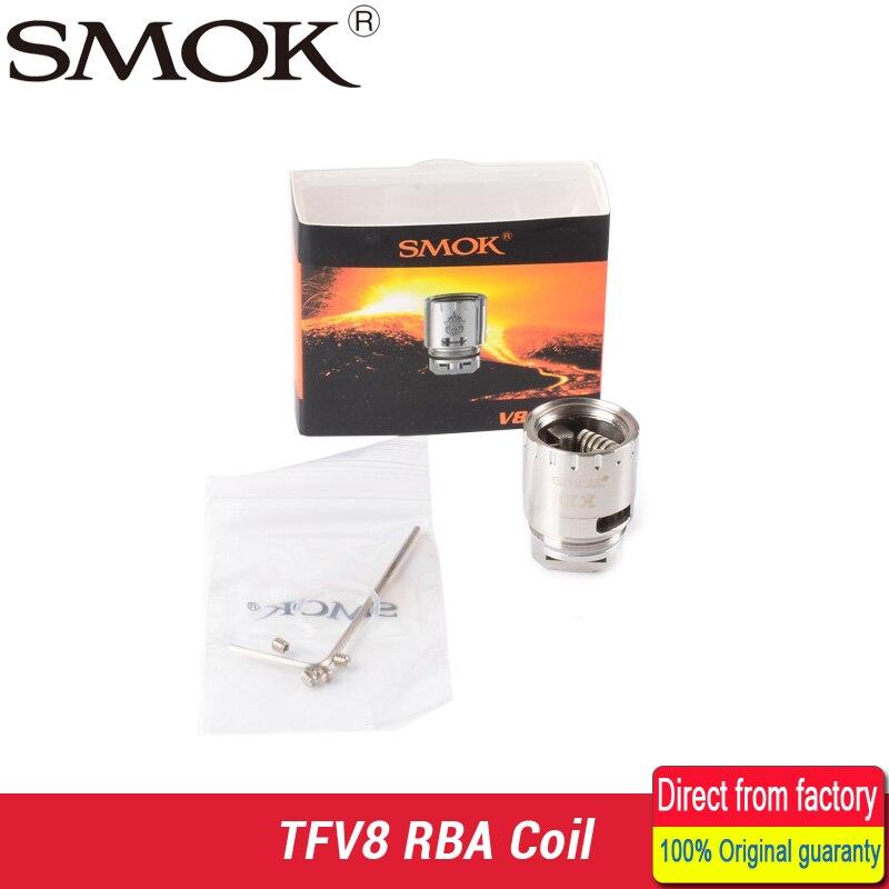 Smok TFV8 RBA Patented Fused V8 RBA 0.28ohm Clapton Dual Coil 0.28ohm 50W-140W Smok V8 RBA Coil