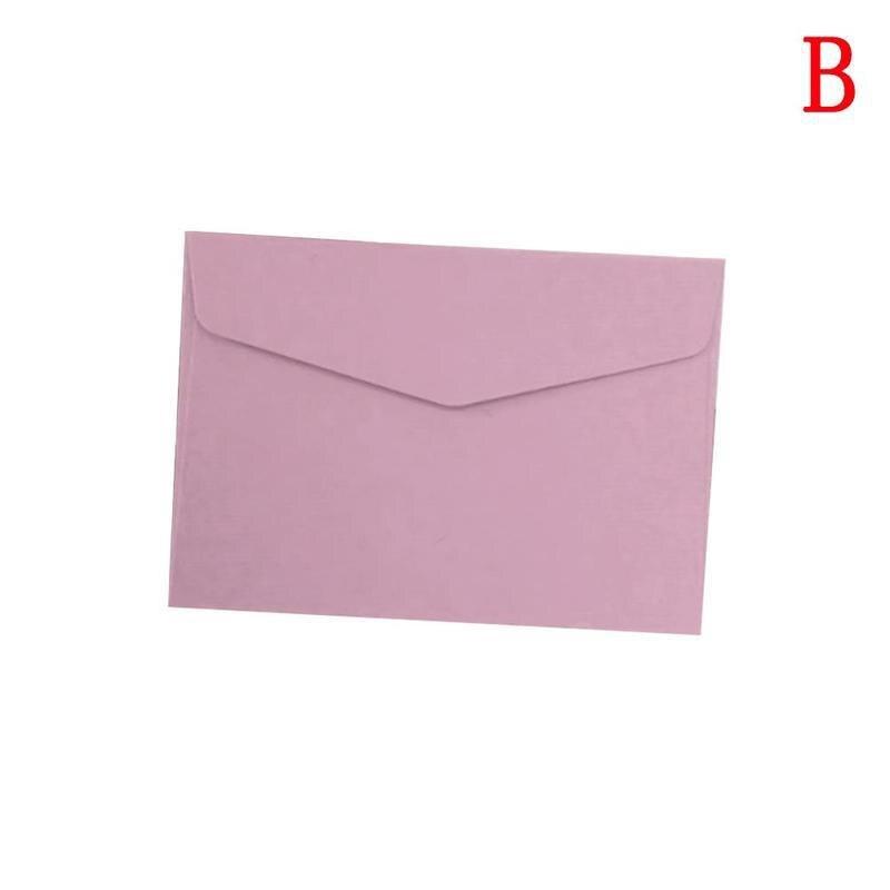 10Pcs Candy Color Paper Envelope Cute Mini Envelopes Vintage European Sty-Gift