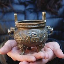 Молитва сокровище штатив благовония горелка медь классическая благовония горелка, украшение с изображением Будды поклонение Будде Бог богатства