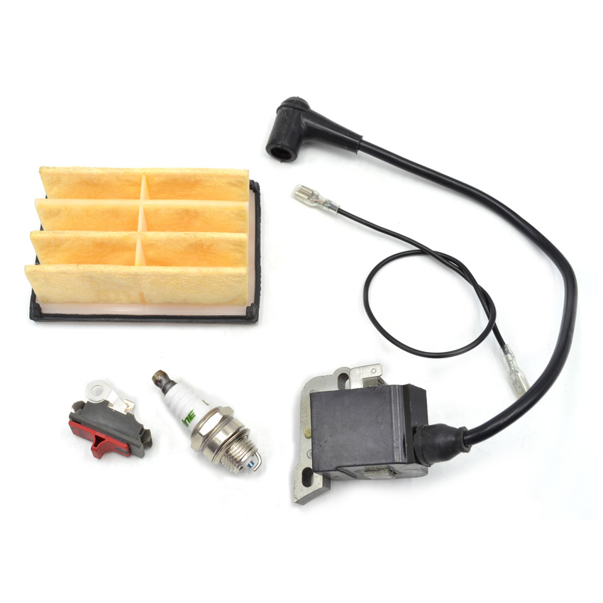 Chainsaw 268 Air Filters Ignition Coil Spark Plug Stop On Off Switch Parts for Husqvarna Machine Replaces 544018401 503447201 chainsaw carburetor ignition coil with carbs gasket fuel filter spark plug replacement parts for husqvarna 50 51 55 chain saws