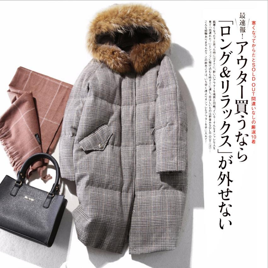 90% duck   down     coat   fashion brand quality woolen fabric   down   jacket female fur hooded thicker warm   down     coat   wq709 fit -30 winter