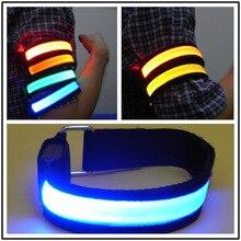 1pcs Bike LED Safety Light Night Running Walking Cycling Warning Luminous Arm Strap Reflective Leg Belt Waterproof Lights