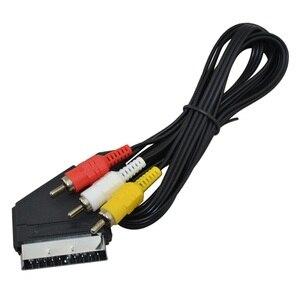 Image 2 - BUKIM 1 قطعة عالية الجودة 1.8 متر/6 أقدام RGB سكارت إلى 3 RCA الصوت والفيديو كابل ل NES ل FC
