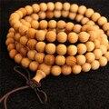 Rare Arborvitae Wood Beaded Bracelet  Buddhist Buddha Meditation 108 beads Wood Prayer Bracelet Women Men High Quality Jewelry