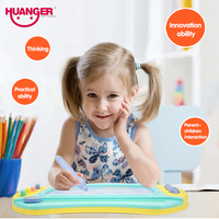 Huanger Magnetic Painting Board Four Colour Drawing Board Lovely Preschool Toy For Kids With Magic Pen