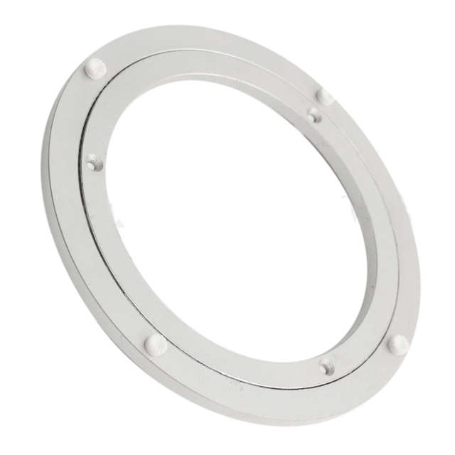 Aluminium Rotating Turntable Bearing Swivel Plate 8 Inch Silver