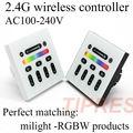 Mi luz 2.4g 4-zone rgbw levou controlador de tela de toque rgb sem fio controlador remoto rf para mi luz lâmpada led levou luz de tira