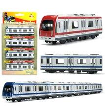 Alta Simulazione Miniature Metropolitana 44.5 cm Lungo Treno Scala Modello di Auto In Metallo Diecast Bambini Pocket Toys Collection Migliori Regali Giocattoli