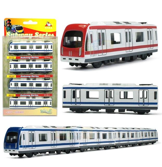 Modelo de coche de Metal en miniatura para niños, juguete de simulación de tren de 44,5 cm de largo, modelo de coche de Metal fundido a presión, colección de juguetes de bolsillo