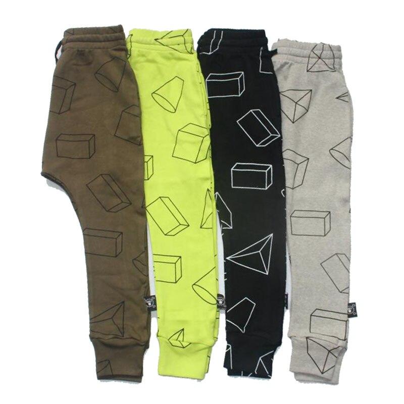 Boys Pants Children Harem Pants Geometric Print Baby Girls Trousers Kids Toddler Cotton Clothing 2017 New