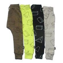 Garçons Pantalon Enfants Harem Pantalon Imprimé Géométrique Bébé Filles Pantalons Enfants Enfant Coton Vêtements 2017 Nouveau
