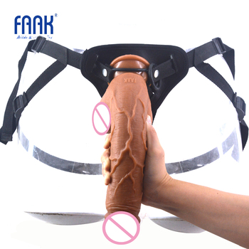 FAAK 2.17 thick dildo realistic big penis suction cup strapon strap on pants harness dick box packed sex toys