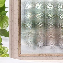 3D mosaic decorative window films PVC static cling privacy stained film Frosted vinyl glass sticker for the table decal