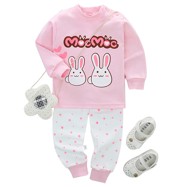 baby girls clothes winter high quality cotton baby girls clothes set 2pcs lovely Cartoon Newborn baby boy clothes baby set