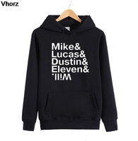 Stranger Things Hoodies Hoody Sweatshirts Men Mike Dustin Lucas Eleven Will Full Sleeve Jumpers Auturm Winter