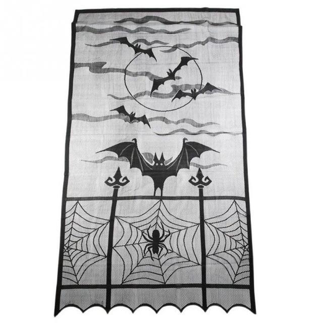 Hot Sales Halloween Festival Heritage Lace Bat Spider Web Curtains Room Door Window Decors  sc 1 st  AliExpress.com & Hot Sales Halloween Festival Heritage Lace Bat Spider Web Curtains ...