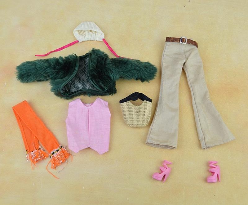 Dukke Tilbehør Sett Vinterdrag Pelscoat Mote Klær For Barbie Doll - Dukker og tilbehør - Bilde 2