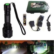 White Light 5 Modes 2000 Lumen C8 Flashlight Kit XML-T6 LED Torch for Cycling Camping Hiking Hunting