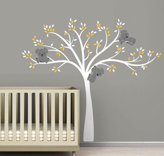 Nouveauté bébé sticker mural Animal Koala ours arbre sticker mural papier peint ours vinyle sticker mural pépinière arbre enfants